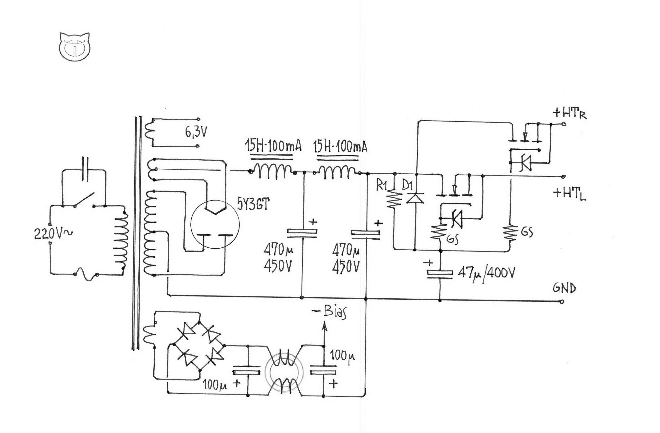Amplifier Nekolab Tube Rectifier Schematic Further Power Lifier Schematics In Supply I Suggest To Use Like 5y3gt Followed By Lclc Type Regulator For The Lowest Hum And Best L R Separation A Mosfet