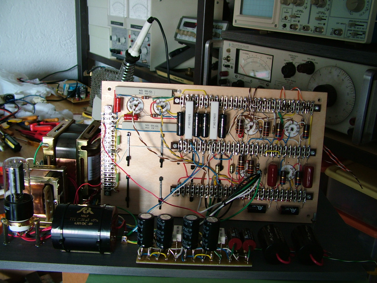 Nekolab Thoughts And Ideas For Diy Audio Enthusiasts The Configuration Is Classic Tube Power Supply 5y3 Rectifier All Capacitors Are Mkp Or Paper In Oil Carbon Composite Resistors Signal Path Double C Core Transformer Choke Psu