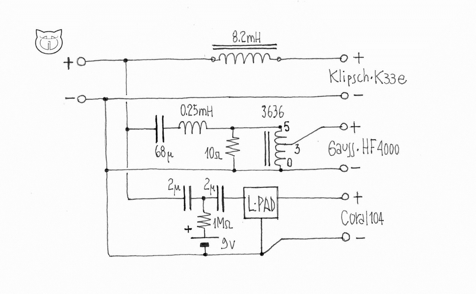 220hz Speaker Crossovers Circuit Diagrams Download Wiring Crossover Schematic Diagram 28 Jeffdoedesign Com 3 Way